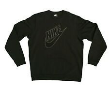 Nike Sportswear Futura Logo Patch Fleece Crew Black Xl