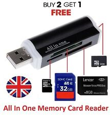 All in One USB Memory Card Reader Adapter for Micro SD RS MMC SDHC TF M2 mini uk