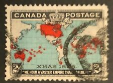 CANADA 1898 IMPERIAL PENNY STAMP #  86b BLACK, DEEP BLUE & CARMINE USED STAMP