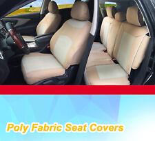 Full Sets Poly Fabric Semi Custom Car Seats Covers for Kia Tan #8660