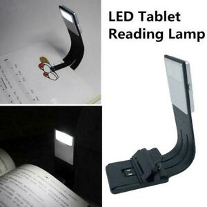 LED Reading Book Light With Detachable Flexible Clip Lamps USB Rechargeable Gift