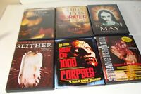 Lot of 5 Horror DVD movies,May, Chainsaw, Slither, Hills/Eyes,Strangl Rob Zombie