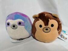 """Flip A Mallow Squishmallow Hans Hedgehog turns into Sharie Sloth 5"""""""