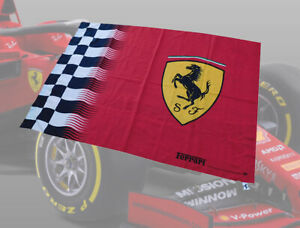 OFFICIAL LICENCED FERRARI FLAG NEW IN PLASTIC BAG SEALED FROM THE FACTORY