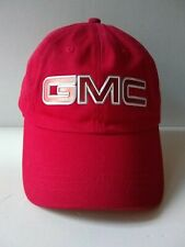 GMC Acadia Cap Hat Red Cotton Adjustable Adult AHEAD Headgear CLASSIC CUT