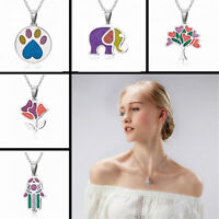Women Lady Stainless Steel Flower Tree Charm Choker Pendants Necklace Jewelry