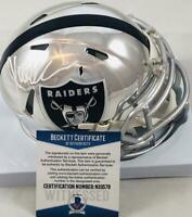 Marcus Allen signed Oakland Raiders chrome mini helmet BAS N33578 Chiefs USC