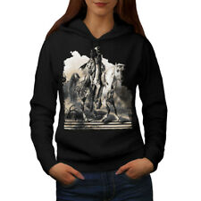 Wellcoda Native American Ride Womens Hoodie, Warrior Casual Hooded Sweatshirt