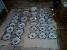 GIEN SERVICE DE TABLE 50 PIECES MODELE CARRE BLEU