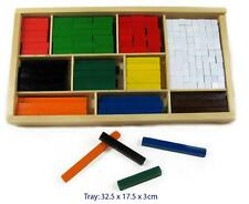 NEW Fun Factory Wooden Cuisenaire Rods 308pcs in Wooden Box - Maths aid