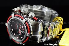 New Invicta Men's 53mm Bolt Zeus Tri Cable Red Black Chronograph SS Watch