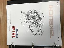 Takeuchi TB145 Parts Manual S/N 14510004 and up Free Priority Shipping