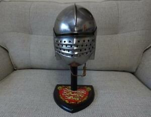 Bellows Face Helmet Medieval Head Armour Re-enactment Stage LARP or Display NEW