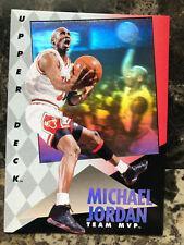 1992-93 Upper Deck Team MVP #4 Michael Jordan Bulls Hologram