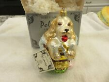 Kurt Adler Komozja Polonaise Ornament Dog in Bath Ap 981 Nwt