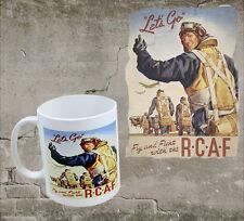 LET'S GO CUPPAGANDA MUG - Novelty Cup WW2 Propaganda Poster RCAF