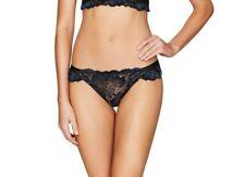 Pleasure State MIKO MIYUKI Large L Mini Brief Bikini Black Aurora Lace Rrp $50