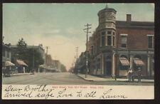Postcard Niles OH Main St & Mill St Store Fronts 1907?