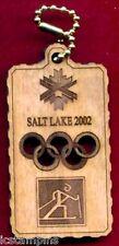 "2002 Olympic ""CROSS COUNTRY"" Wood Keytag"