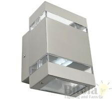 MERCATOR HEDLAND 6w LED UP DOWN 316 STAINLESS STEEL OUTDOOR WALL LIGHT MX4412S