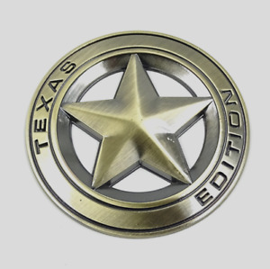 1X Texas Edition Star Metal Badge grill badge or trunk badge Emblem for j.e.e.p