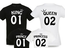 King Queen Prince Princess mit Wunschzahl Partner Familien T-Shirts Mutter Sohn