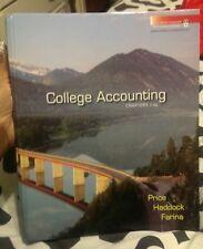 College Accounting by M. David Haddock, John Price and Michael Farina (2008,...
