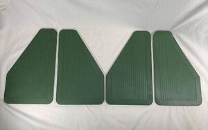 Vintage GREEN Heavy Duty Rubber Mud Flaps / Splash Guards 14 1/4 x 8 3/4  2 Pair