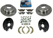 REAR BRAKE DUST SHIELDS DISCS PADS SHOES +FITTING KIT for CHRYSLER VOYAGER 01-07