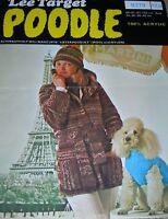 Original Vintage Lee Target Poodle Knitting Pattern Lady's Jacket & Hat No 9219
