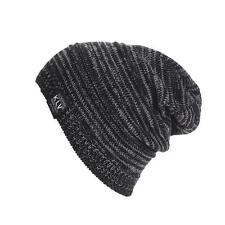 Men Women Unisex Knit Baggy Beanie Winter Hat Ski Slouchy Black