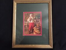 "Rare Santa Claus Picture Wall Art Framed 9"" X 11"" The Picture Peddlar 2047"