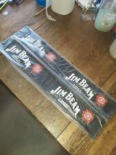 "2--NEW JIM BEAM BLACK BAR MATS--24 X 3.5""--LOOK GREAT ON YOUR BAR--XMAS GIFT"