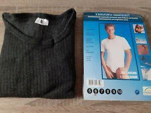 Herren Thermounterhemd Unterhemd Halbarm Baumwolle Fb. anthrazit Gr. 6 NEU - OVP