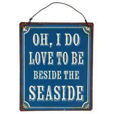 Accanto AL MARE MINI retro per appendere la placca. Spiaggia sign. shabby CHIC. NAUTICA