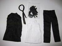 """1/6 Scale DOLLSFIGURE Man Black Suit set for 12"""" Action Figure Toys"""