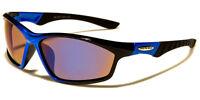 New Arctic Blue Oval Men's Sunglasses Designer Fishing Driving Wrap Silver AB32