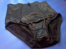 Women Panties,Briefs,Control Panties Ann Diane SZ. 3XL. Black Satin W/2 Pockets