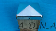 """80mm x 80mm (3.1"""") GALVANIZED PYRAMID SQUARE METAL / STEEL FENCE POST CAP TOP"""