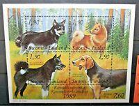 "FINLANDIA 1989 ""CANI ANIMALI DOMESTICI"" NUOVO MNH** BLOCK (CAT.X)"