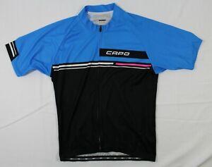 CAPO XXL MEN'S S/S FULL ZIP CYCLING JERSEY BLUE/BLACK SLIGHTLY USED