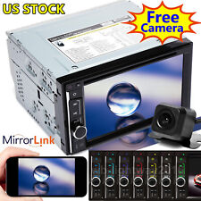 For Volkswagen Double Din 6.2'' Car Stereo Radio CD DVD Player w/ Backup Camera