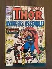 Thor #390 (Marvel) Captain America lifts Thor's hammer, Mjolnir. Higher Grade.