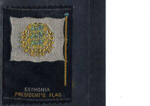 VERY EARLY ESTONIA SILK FLAG CIGARETTE CARD, PRESIDENT'S FLAG