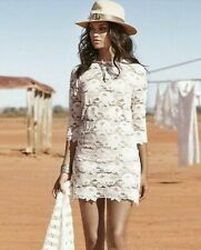 Rare Spell & The Gypsy Collective Rosamond Lace Mini Dress - White - Size S