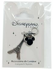 Disneyland Paris Disney Parks Eiffel Tower Mickey Mouse Pin Lanyard Charm Clip