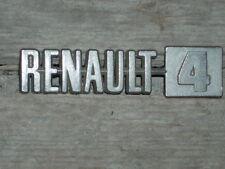 NOS ANAGRAMA METALICO / EMBLEM / SIGLE 68MM LARGO RENAULT R4
