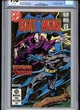 Batman #350 CGC 9.;8 White Pages Colon Cover