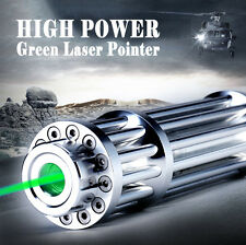 High Power Green Laser Pointer Pen 532nm Focus Zoomable Burning Bright Beam