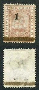British Guiana SG154 1 on 48c OFFICIAL Omitted No Gum on 48c Expertised Champion